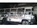 В Макеевке сгорел автобус
